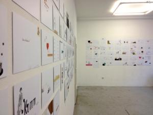 Ausstellungsansicht NOMDEPLUM II Konnektor 2014